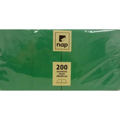 Serviettes Vertes 30x30 à partir de 100