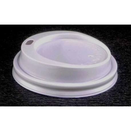 Couvercle Gobelet carton 18 cl dome blanc