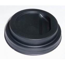 Couvercle Gobelet carton 10 cl dome noir